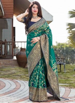 Topnotch Art Silk Woven Traditional Saree