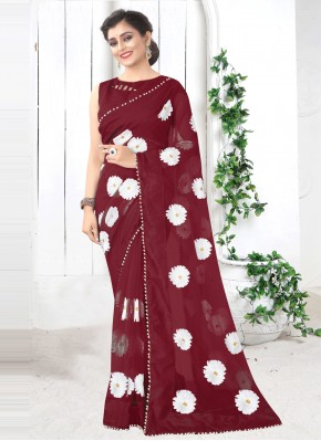 Topnotch Net Printed Saree