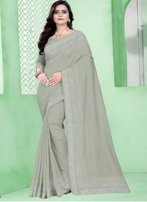 Traditional Saree Fancy Silk in Grey