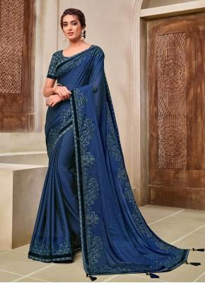 Transcendent Applique Silk Classic Saree