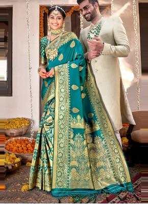 Transcendent Banarasi Silk Festival Designer Saree