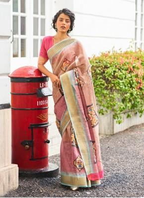 Transcendent Linen Festival Traditional Saree