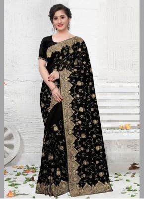 Transcendent Silk Black Trendy Saree