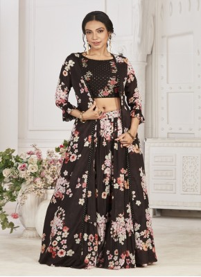 Trend Setter Chiffon Jacket Style Lehngha Choli