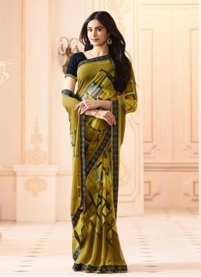 Trendy Abstract Print Casual Printed Saree