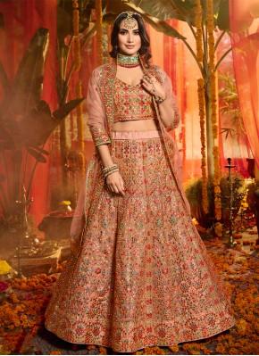Trendy Lehenga Choli Embroidered Organza in Multi Colour