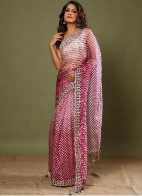 Trendy Saree Border Silk in Pink