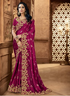 Unique Patch Border Satin Classic Saree