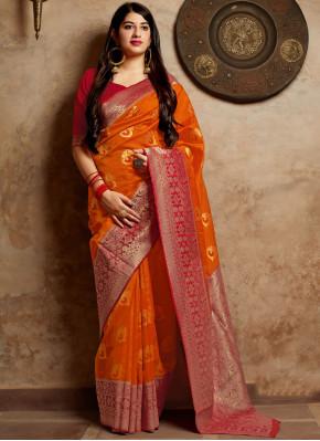 Urbane Art Silk Woven Designer Traditional Saree