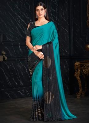 Versatile Fancy Fabric Blue Fancy Classic Saree