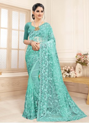 Vibrant Embroidered Contemporary Saree