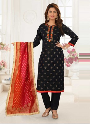 Vibrant Embroidered Readymade Suit