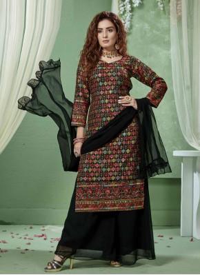 Vibrant  Multi Chiffon Designer Salwar Suit