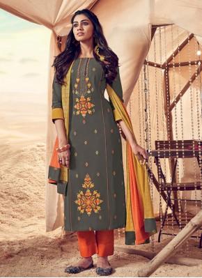Vibrant Polly Cotton Salwar Kameez