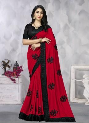 Vichitra Silk Bollywood Saree in Pink