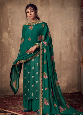 Viscose Green Salwar Suit