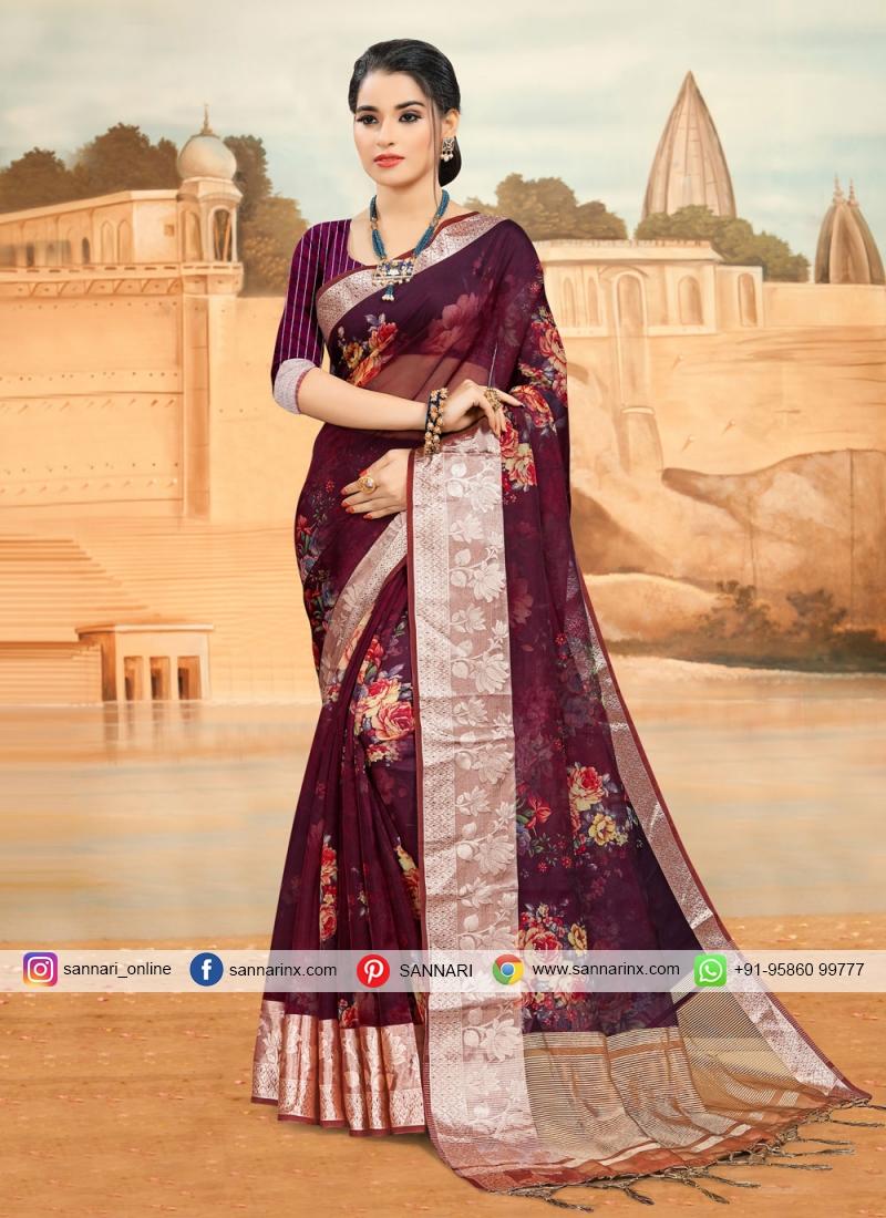 Vivacious Abstract Print Printed Saree