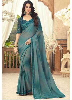 Vivacious Multi Colour Pure Chiffon Saree