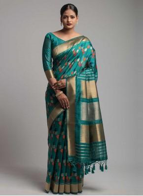 Voguish Green Ceremonial Designer Traditional Saree