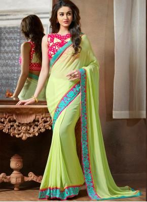 Voguish Green Ceremonial Saree
