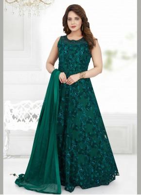 Voguish Net Designer Floor Length Salwar Suit