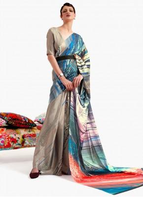 Voguish Print Multi Colour Printed Saree
