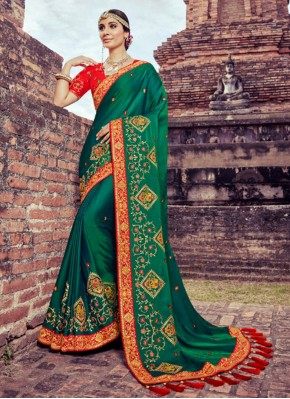 Voguish Resham Green Saree