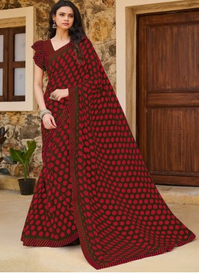 Voguish Traditional Saree For Casual