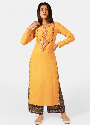 Voluptuous Embroidered Party Wear Kurti