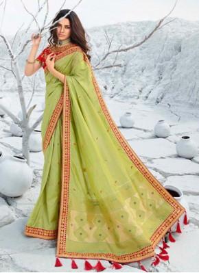 Voluptuous Silk Border Classic Saree