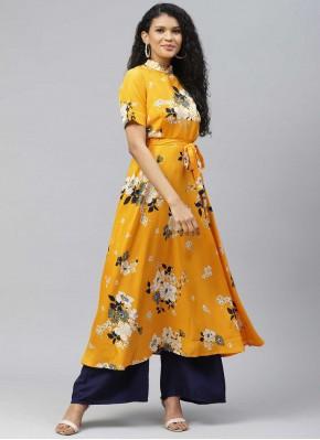 Voluptuous Yellow Designer Kurti