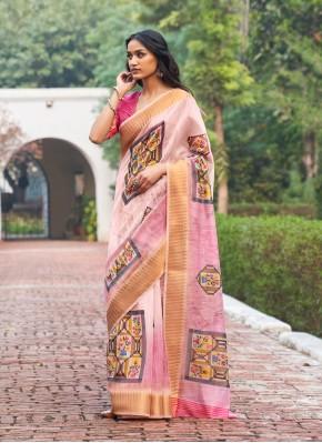 Weaving Linen Designer Traditional Saree in Multi Colour