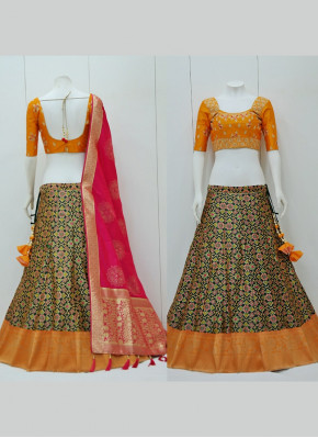 Weaving Print Patola Silk Readymade Lehenga Choli