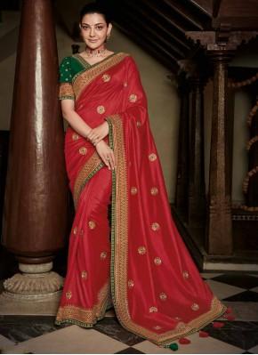 Weaving Silk Classic Saree in Red