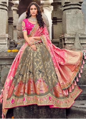 Wedding Bridal Wear Multi Color Designer Lehenga Choli