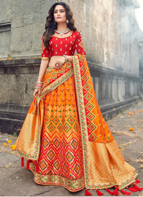 Wedding Bridal Wear Multi Color patola Designer Lehenga Choli
