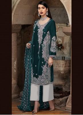 Whimsical Green Ceremonial Designer Pakistani Suit