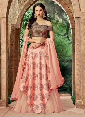 Whimsical Pink Net Lehenga Choli