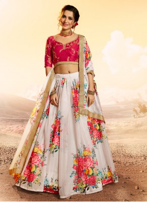 White Organza Reception Designer Lehenga Choli