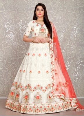 White Thread Designer Lehenga Choli