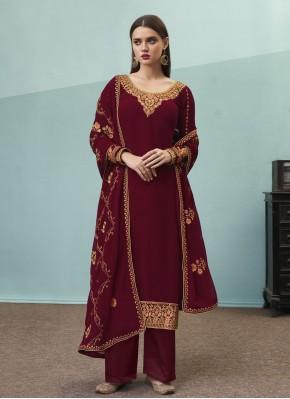 Wine Festival Faux Georgette Designer Pakistani Suit