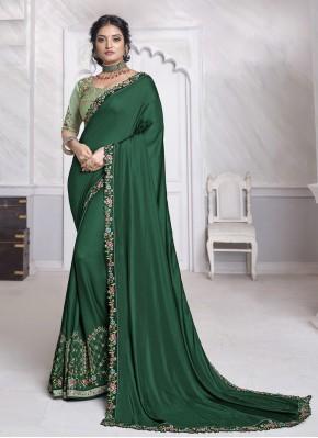 Wonderous Patch Border Silk Designer Saree