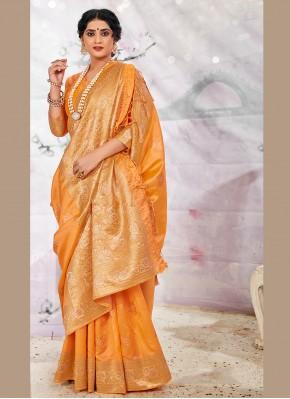 Yellow Ceremonial Traditional Saree