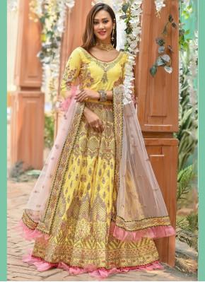 Yellow Color A Line Lehenga Choli