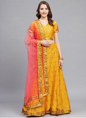 Yellow Wedding A Line Lehenga Choli